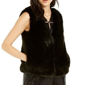 NWT Faux Fur Michael Kors Black Vest